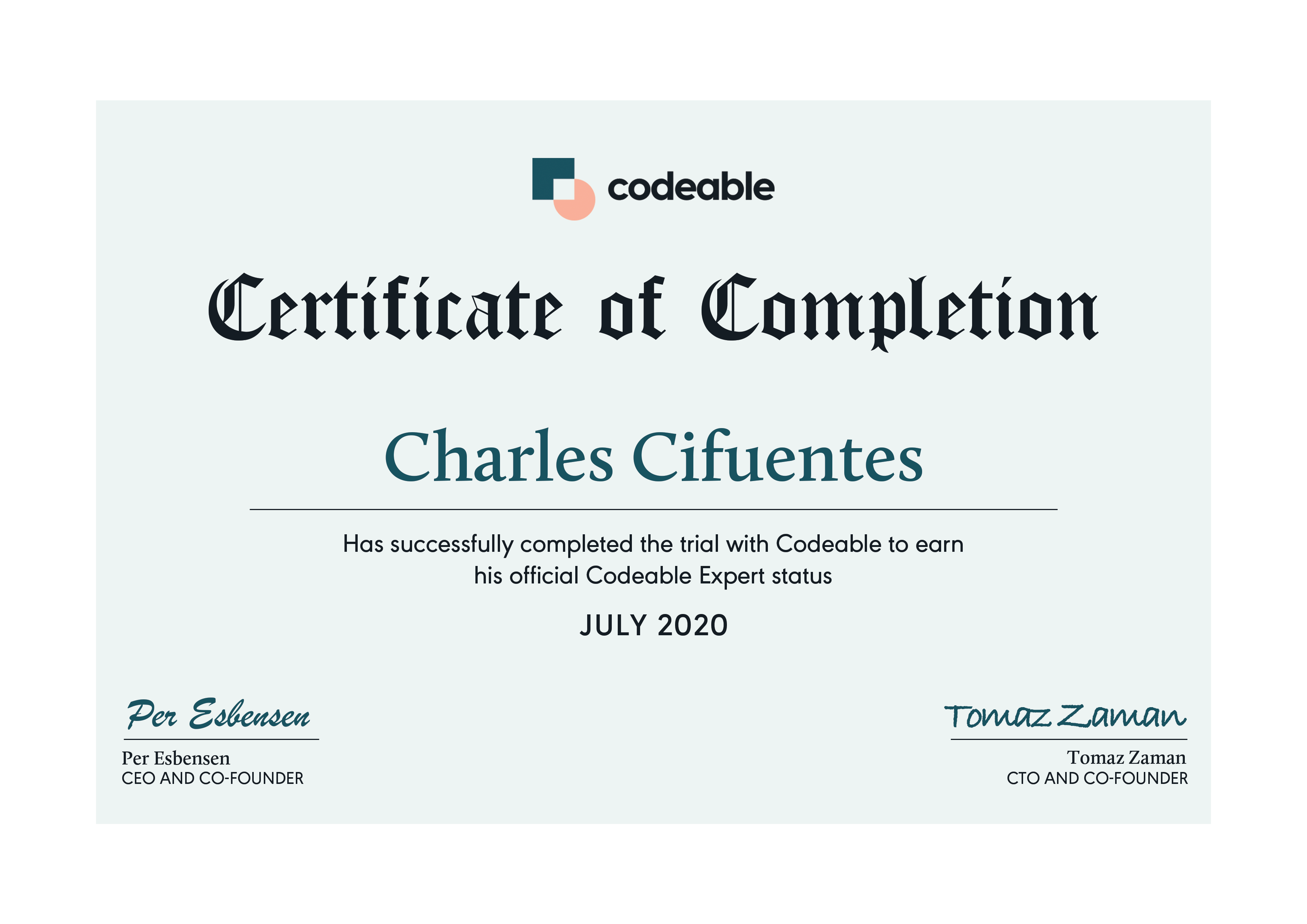 Charles Certified Codeable Expert