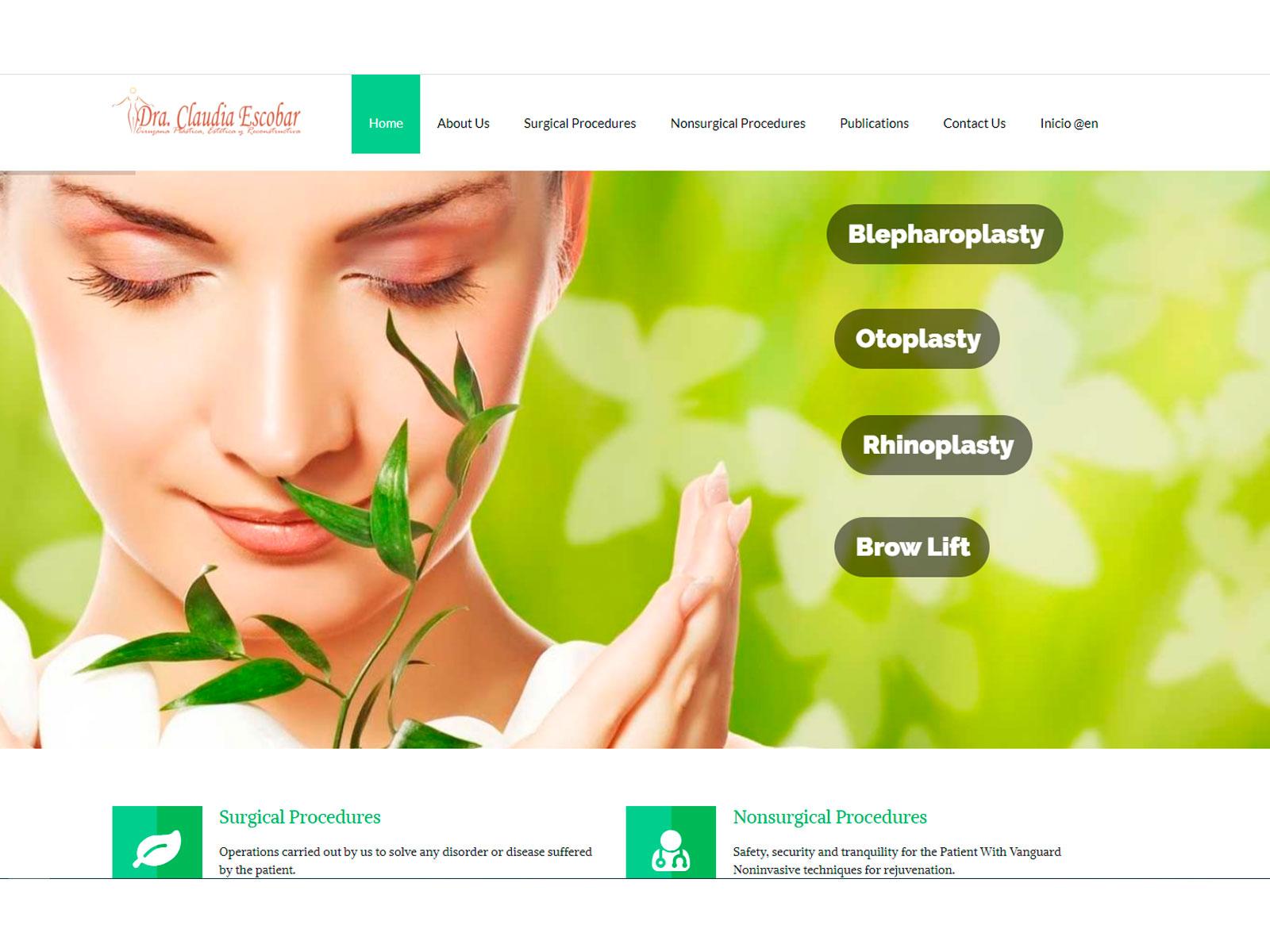Dra. Claudia Patricia Escobar Website